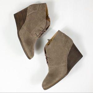 Lucky Brand Brown Wedge Women Boots